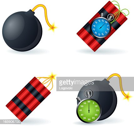 explosive icons vector art getty images