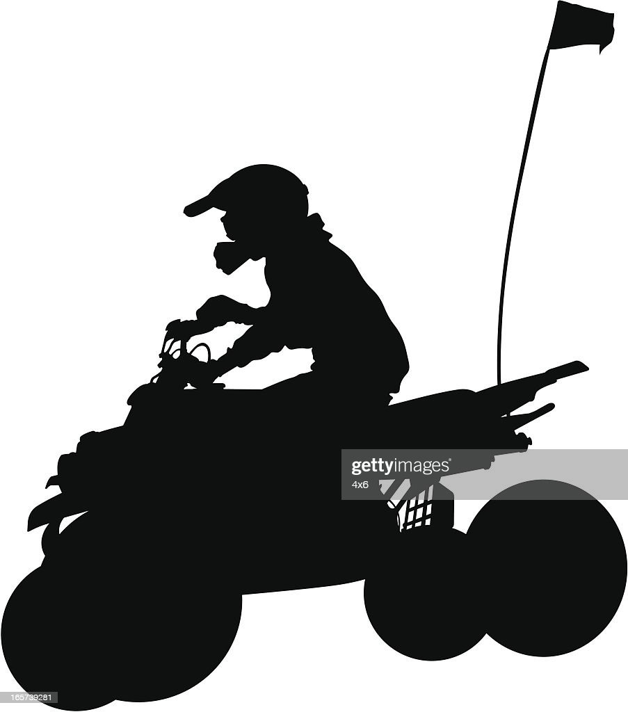 Four Wheeler Clip Art : Extreme offroading vehicle four wheeler vector art getty
