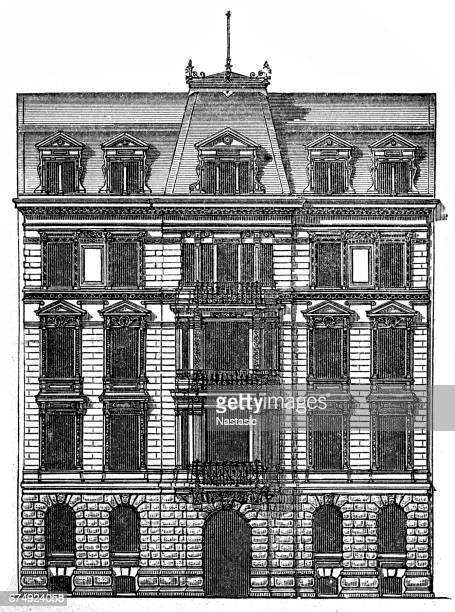 Facade of a residential building in Dresden