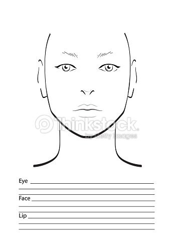 face chart makeup artist blank template stock illustration thinkstock