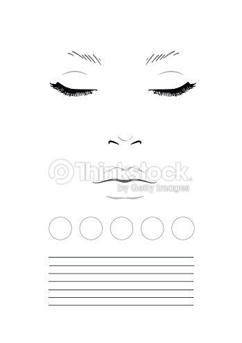 Face Chart Makeup Artist Blank Template