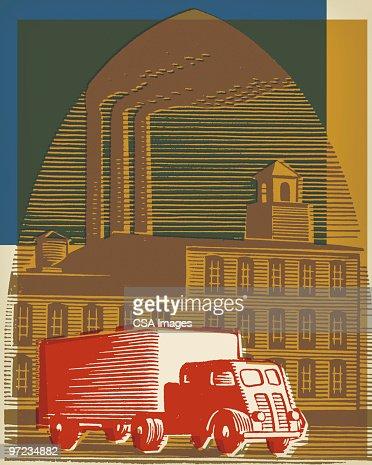 Factory : Stock Illustration