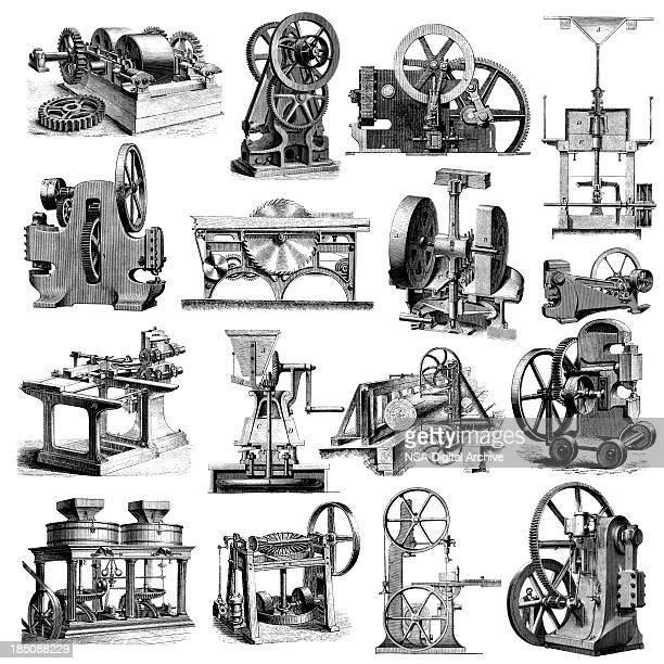 Usine de musculation et équipement industriel Illustrations/industrie de fabrication Clipart