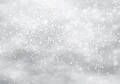 Falling snow on the blue background. illustration design