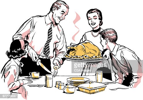 Family Meal Stock Illustration | Getty Images