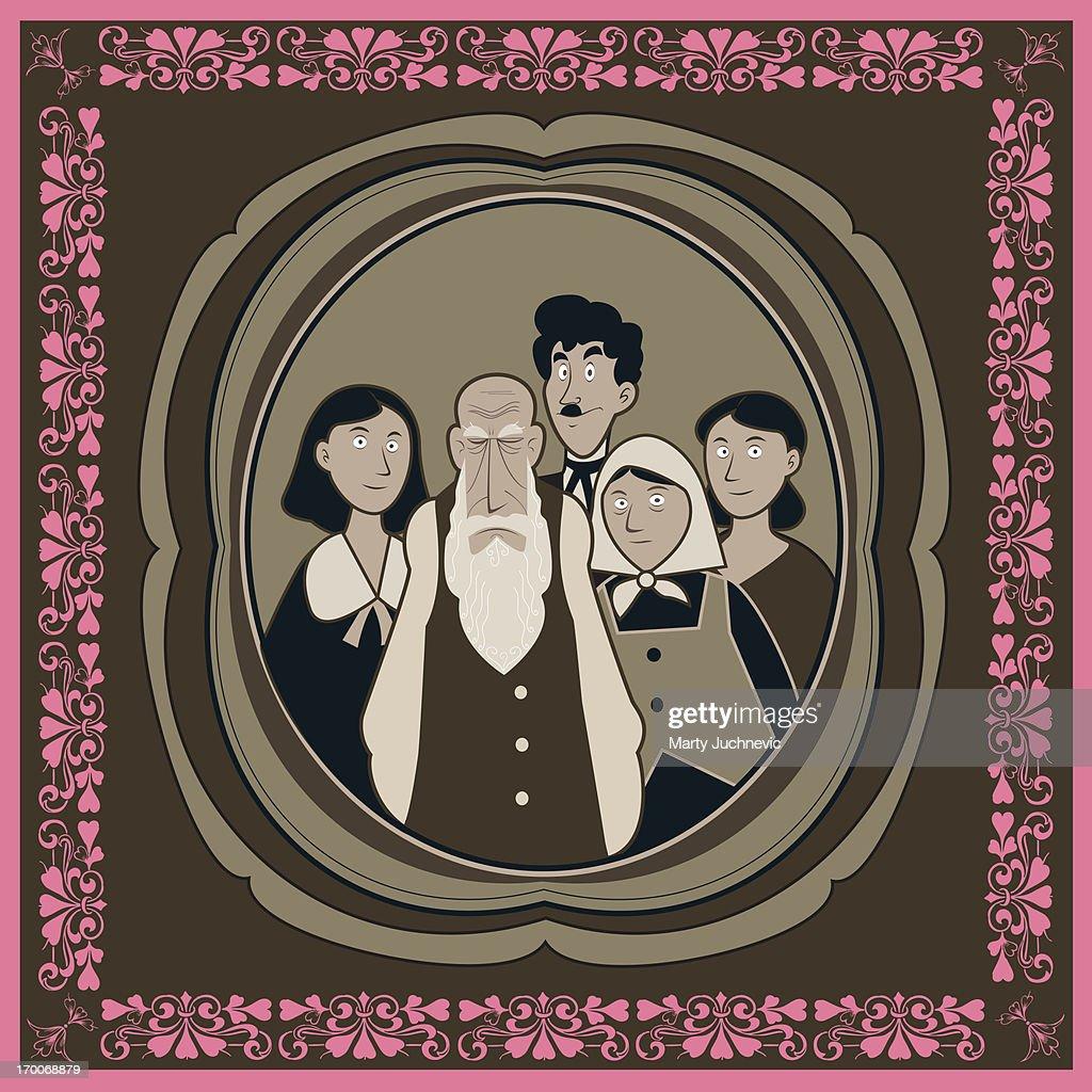 Family portrait : Stock Illustration