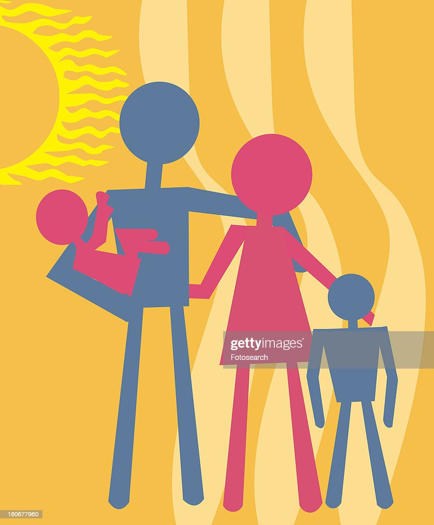 Family standing together : Stock Illustration