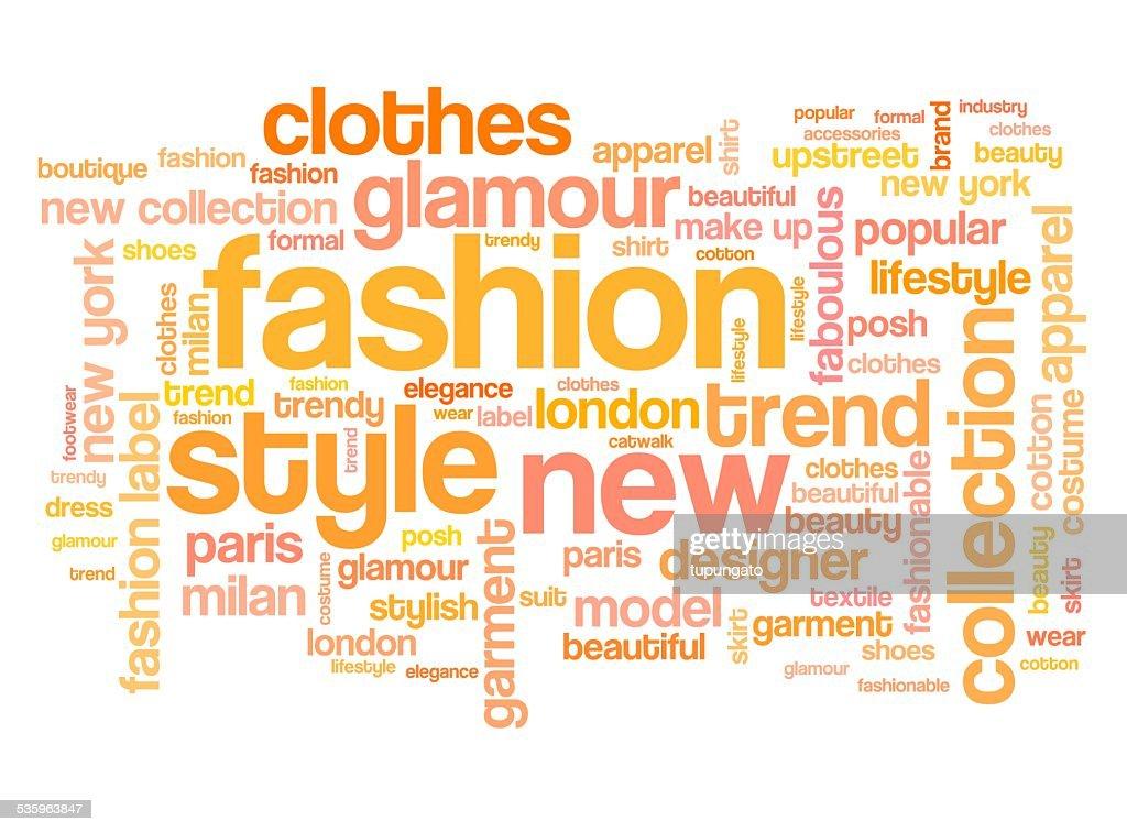 Fashion tag cloud : Stock Illustration