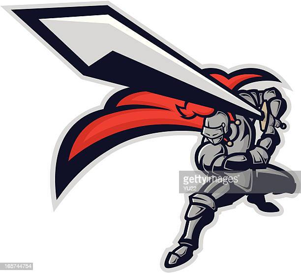 Knight Mascot Clip Art Vector Art | Getty Images