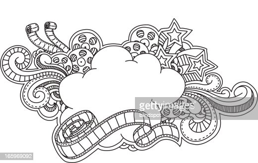 film cloud frame vector art