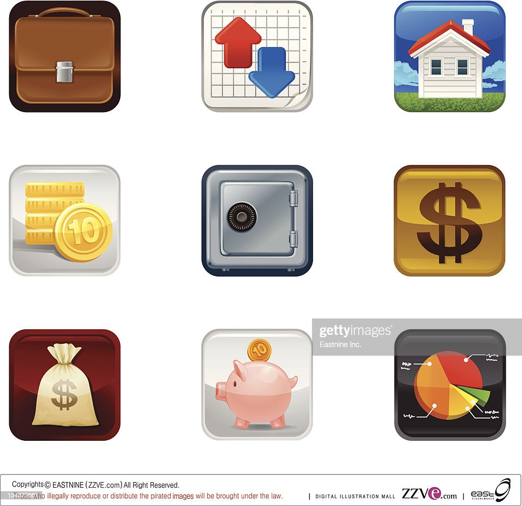 Finance saving Icon set : Vector Art