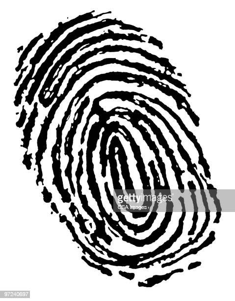 Cartoon fingerprint clipart