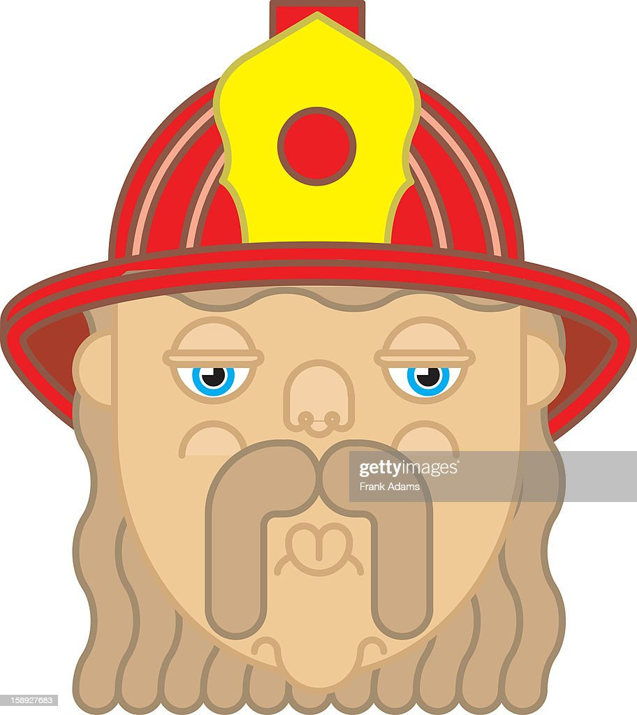 A firefighter : Stock Illustration