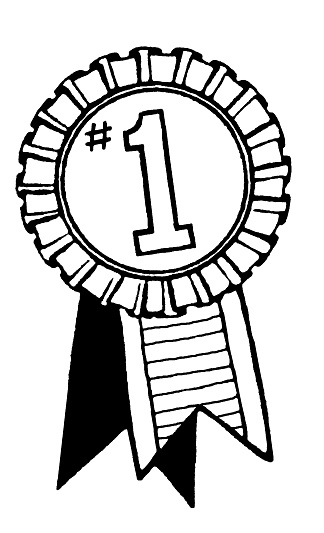 First Place Clipart Black And White