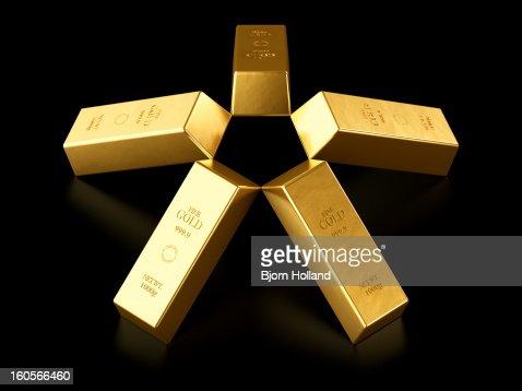 Five gold bars : Ilustração de stock