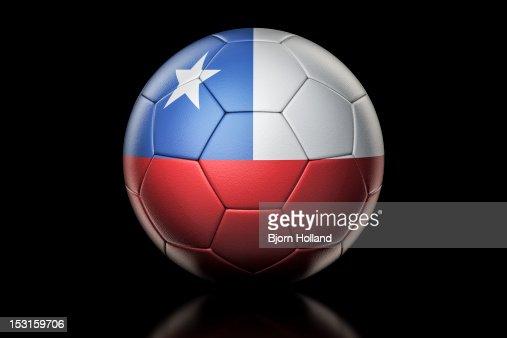 Flag of on Chile Soccer Ball : Stock Illustration