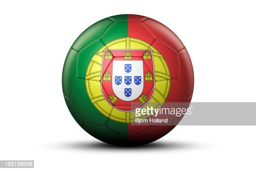 Flag of Portugal on Soccer Ball : Stock Illustration