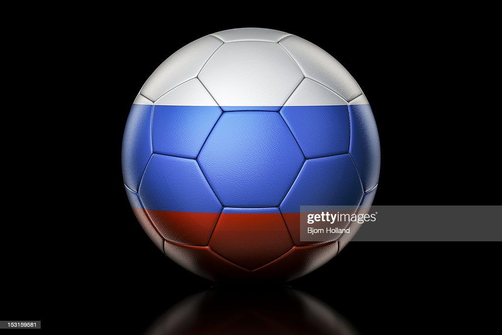 Flag of Russian Federation on Soccer Ball : Stock Illustration
