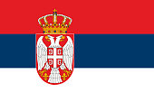 National flag of the Republic of Serbia.