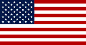 Flag of the United States of America. The Flag of the United States of America alternates 13 stripes between red and white, which symbolize the original colonies that became independent of the United