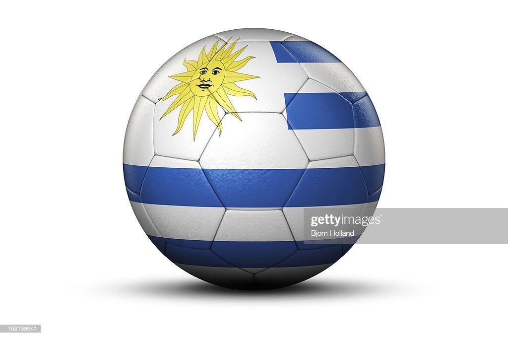 Flag of Uruguay on Soccer Ball : Stock Illustration