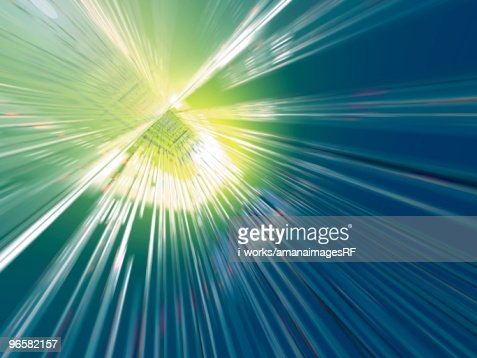 Flash of light, computer graphic : Stock-Illustration