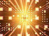 Flash of light, computer graphic