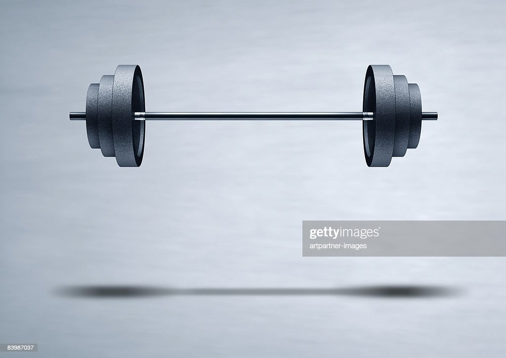 floating weight barbell stock illustration getty images