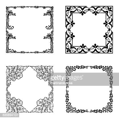 Floral borders : Stock Illustration
