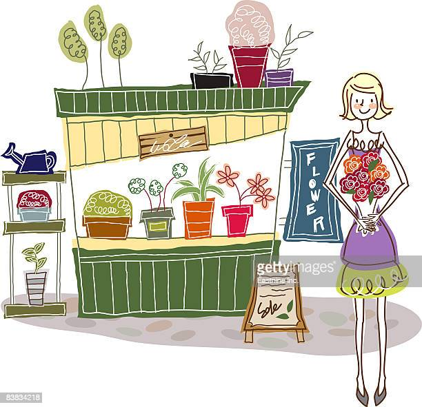 Flower Shop Stock Illustrations And Cartoons | Getty Images