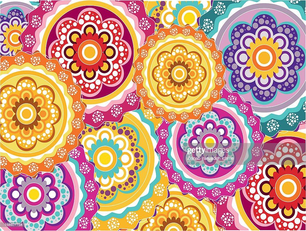 Flower pattern : Stock Illustration