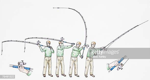 Casting stock illustrations and cartoons getty images for Fly fishing casting techniques