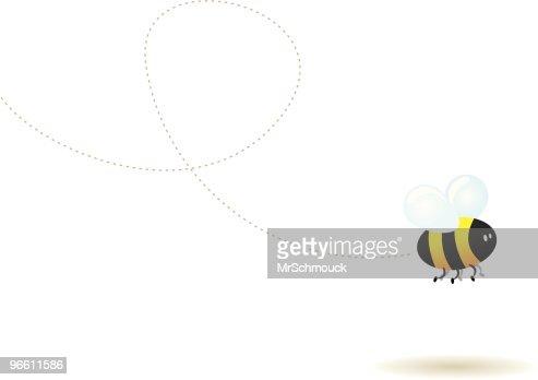 Fly little bee ! : Vector Art