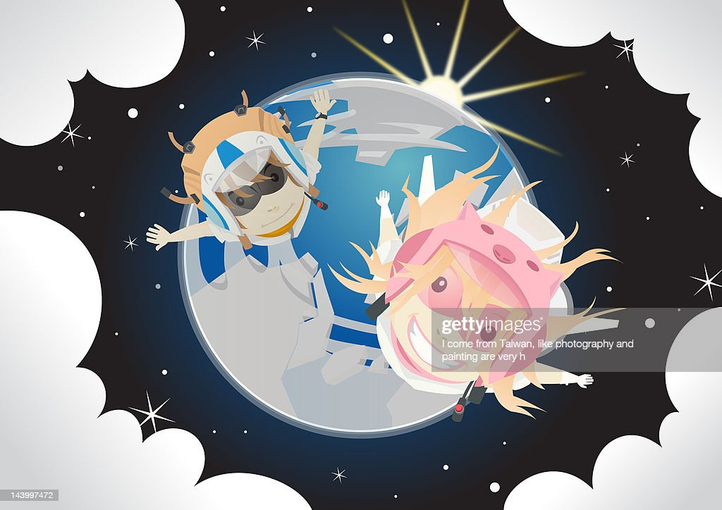 Fly me to the moon : Stock Illustration
