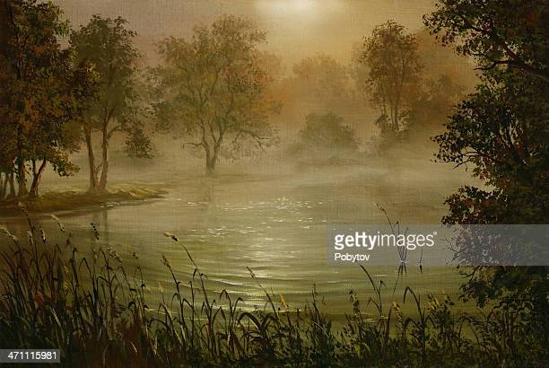 Fog above water