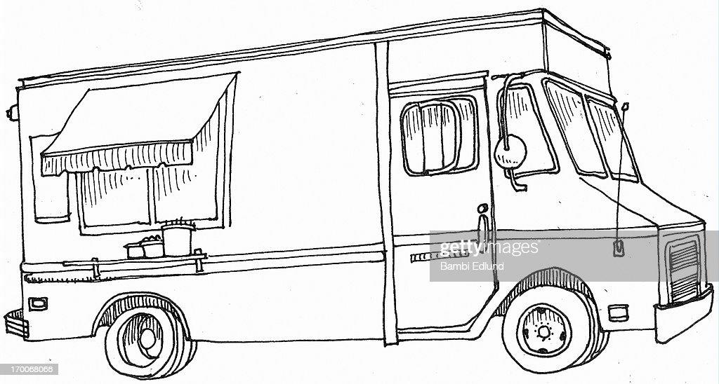 Food cart : Stock Illustration