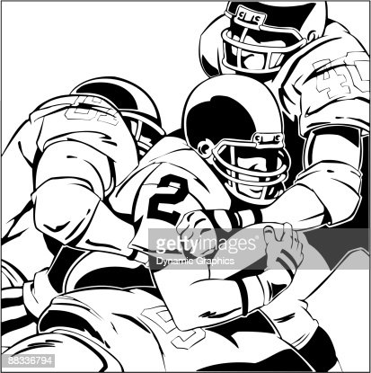 how to draw a football player tackling