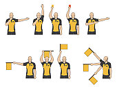 Football referees' signals