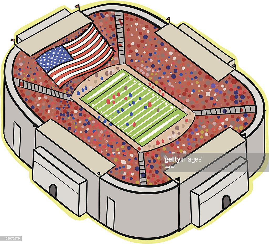 Football Stadium : Vector Art