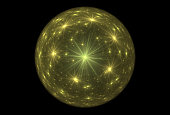 Bright abstract fractal yellow magic ball of fantasy, Fractal magic ball Fantasy