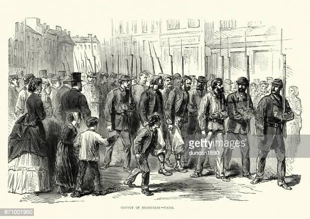Franco Prussian War -  Deserters under arrest in Paris