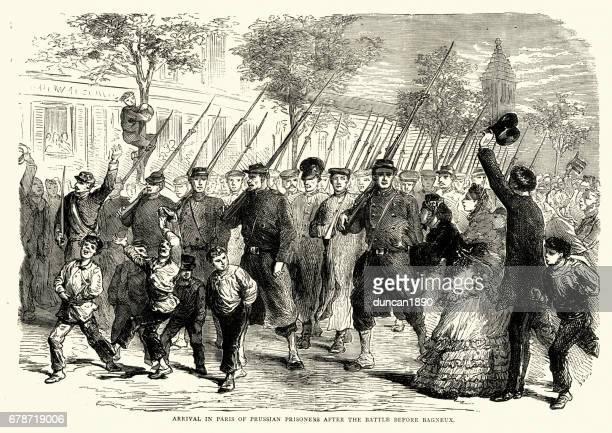 Franco Prussian War -  Prussian prisoners of war in Paris