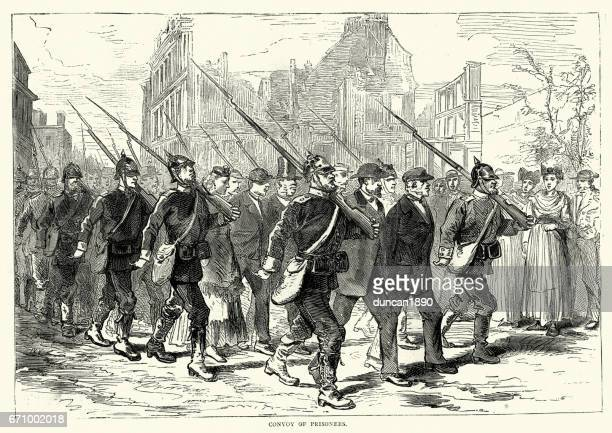 Franco Prussian War -  Soldiers escorting prisoners of war