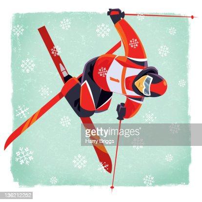 Freestyle Skier : Stock Illustration