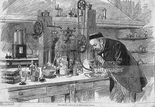 French chemist and bacteriologist Louis Pasteur working in his laboratory in Paris Original Publication People Disc HN0500
