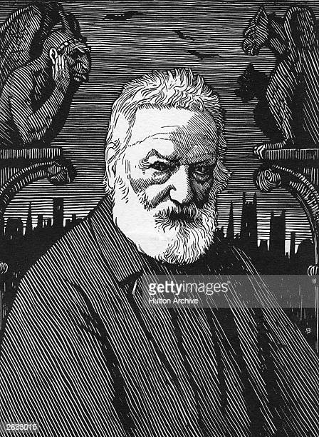 French poet and writer Victor Hugo Original Artwork Engraving by R Boyden