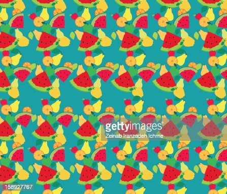 Fruit pattern : Stock Illustration