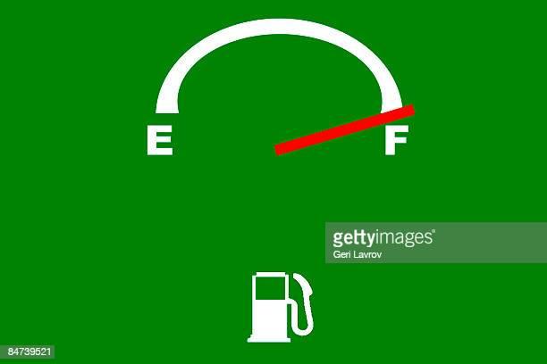 Fuel gauge indicating full tank
