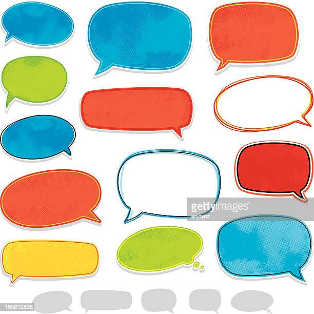 Fun speech bubbles