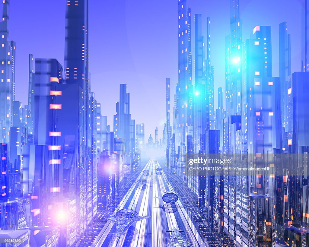 Futuristic city : Stock Illustration